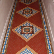 Palace Victorian threshold tiling