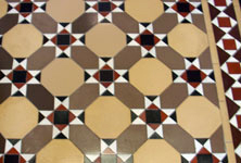 Geometric tile installation